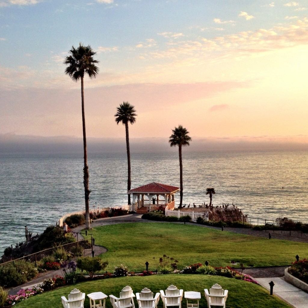 The view from our room in Pismo Beach Best Western ShoreCliff